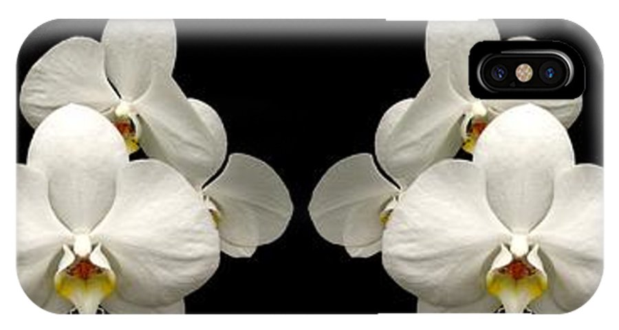 Orchids IPhone X Case featuring the photograph White Orchids Panorama by Rose Santuci-Sofranko