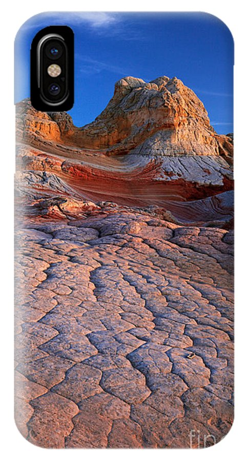 America IPhone X Case featuring the photograph White Pocket Afterglow by Inge Johnsson