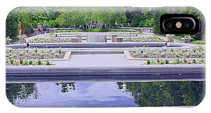 White River IPhone X / XS Case featuring the photograph White River Gardens by Andrea Lynch