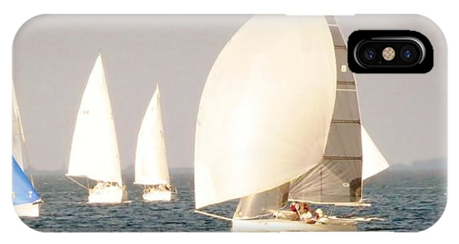 Sailing IPhone X Case featuring the photograph White Sails by Spyglass Galleries - Captain Layne