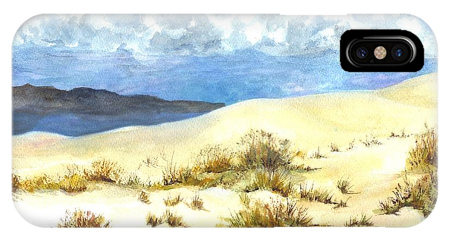 Desert IPhone X Case featuring the painting White Sands New Mexico U S A by Carol Wisniewski