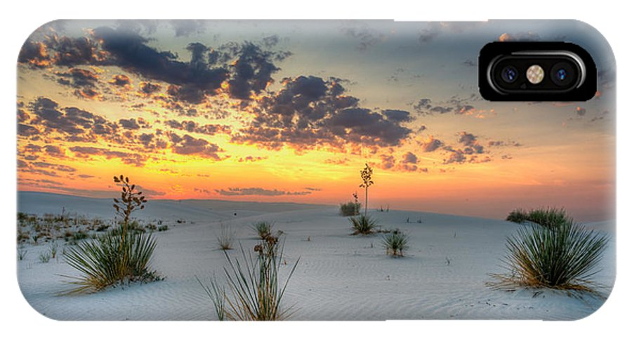 Sunrise IPhone X Case featuring the photograph White Sands Sunrise by Allen Biedrzycki