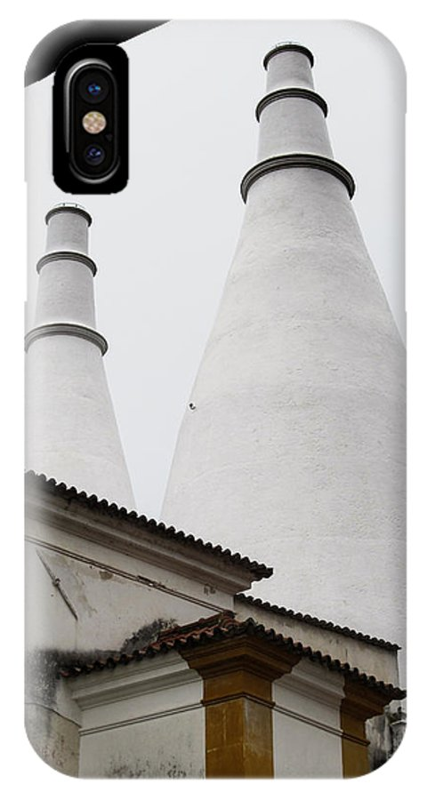 Portugal IPhone X / XS Case featuring the photograph White Towers by Roni Chastain