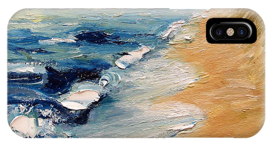 Whitecaps IPhone X Case featuring the painting Whitecaps On Lake Michigan 3.0 by Michelle Calkins