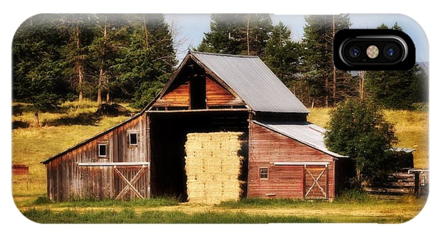 Barn IPhone X Case featuring the photograph Whitefish Barn by Marty Koch