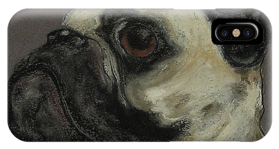 Pastel IPhone Case featuring the drawing Who Me by Cori Solomon