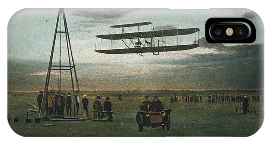 Wright IPhone X Case featuring the photograph Wilbur Wright Rounds A Pylon by Mary Evans Picture Library