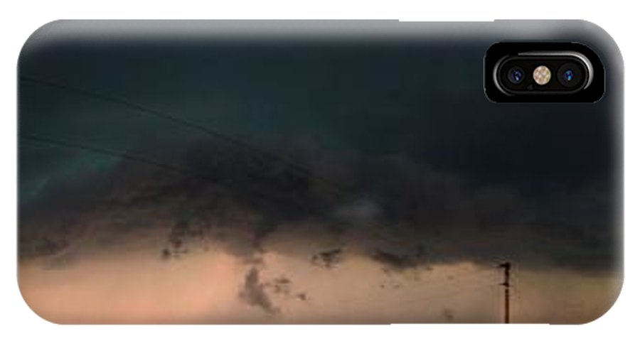 Stormscape IPhone X Case featuring the photograph Wilcox Nebraska Supercell by NebraskaSC