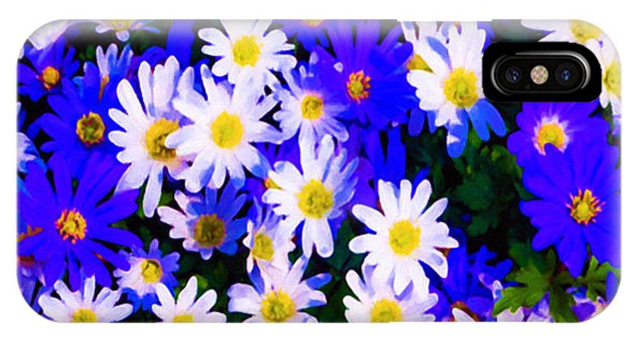 Garden IPhone X Case featuring the painting Wild Flowers 3 by Jeelan Clark