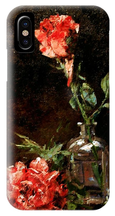 Floral IPhone X Case featuring the painting Wild Irish by Jim Gola