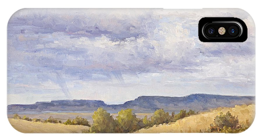 Landscape IPhone X Case featuring the painting Wild Montana Skies by Bonnie Bowne