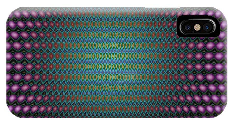 Op Art IPhone X Case featuring the digital art Wild Mushrooms by WB Johnston