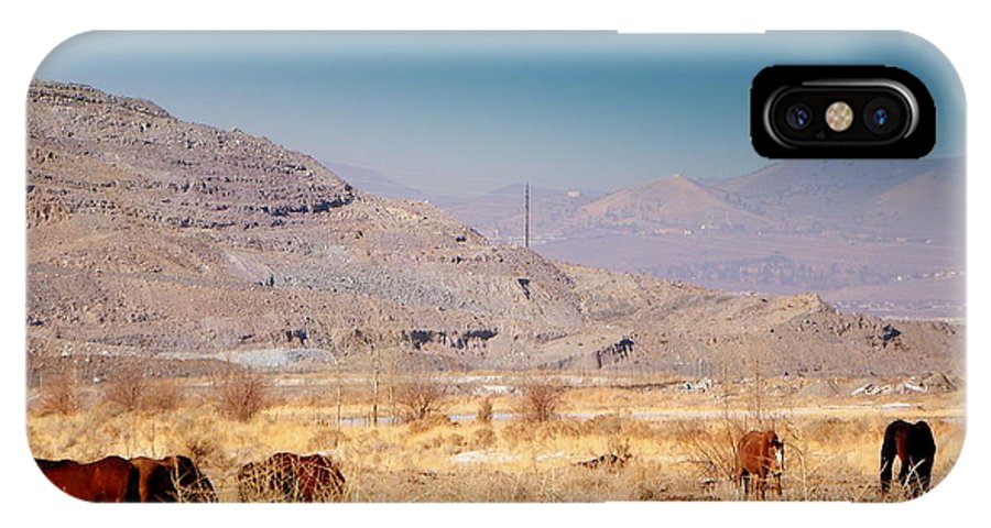 Acrylic Prints IPhone X Case featuring the photograph Wild Nevada Mustang Herd by Bobbee Rickard