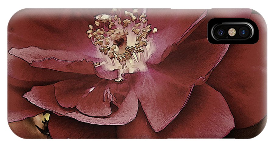 Wild IPhone X Case featuring the photograph Wild Rose Iv by Charles Muhle
