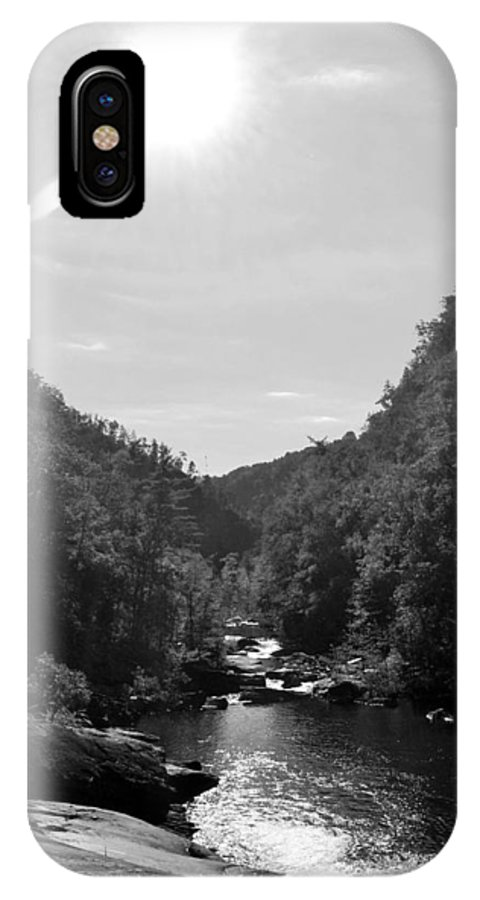 Black And White IPhone X Case featuring the photograph Wilderness At Noon by James Potts