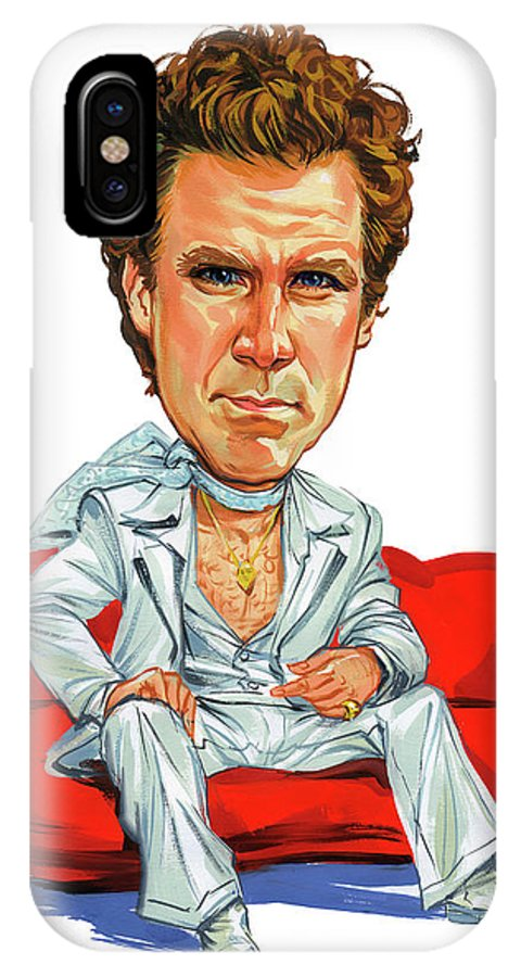 Will Ferrell IPhone X Case featuring the painting Will Ferrell by Art