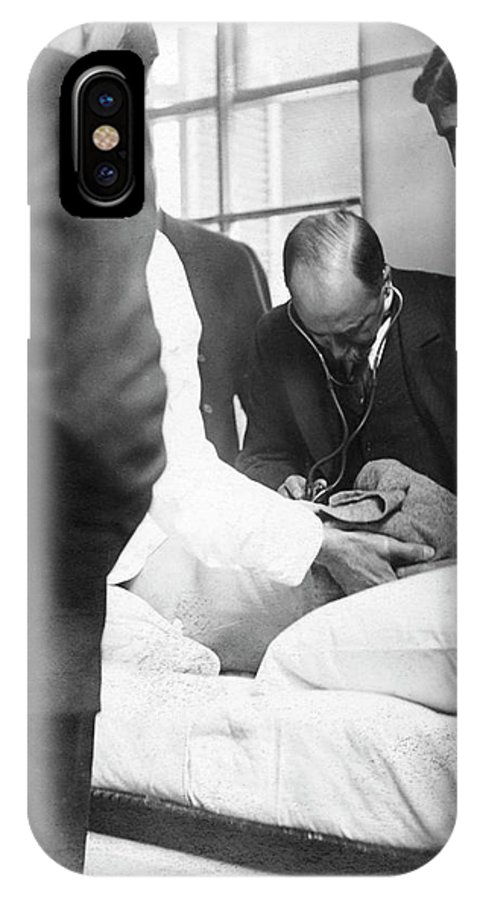 William Osler IPhone X Case featuring the photograph William Osler Attending A Patient by National Library Of Medicine
