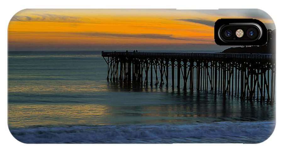 Pier IPhone X Case featuring the photograph William R. Hearst Memorial State Beach Pier by Duncan Selby