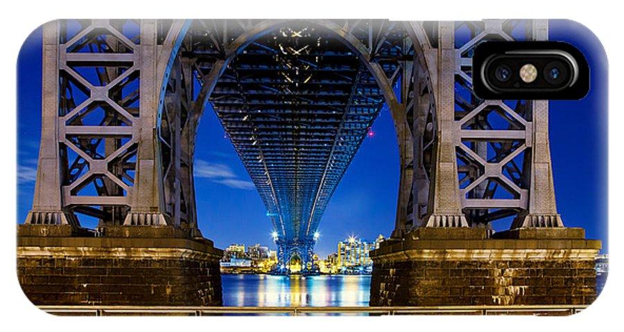 Williamsburg Bridge IPhone X Case featuring the photograph Blue Punch by Az Jackson