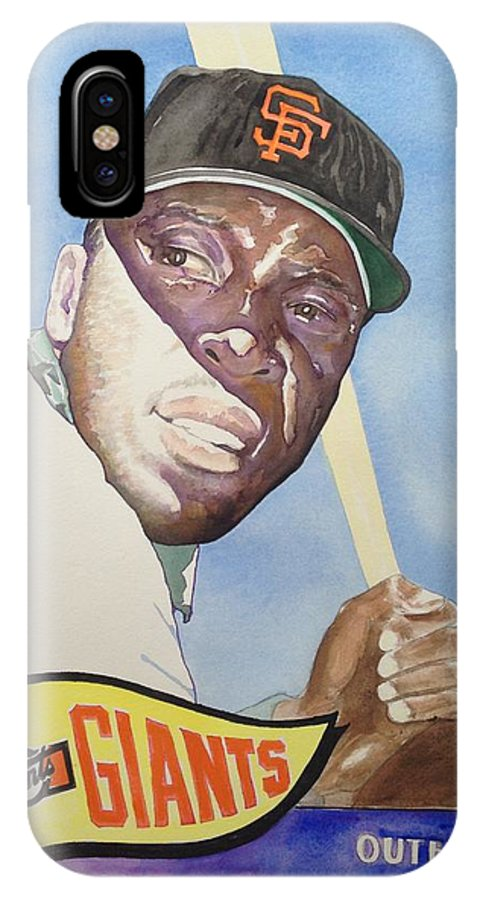 San Francisco IPhone X Case featuring the painting Willie Mccovey by Robert Myers