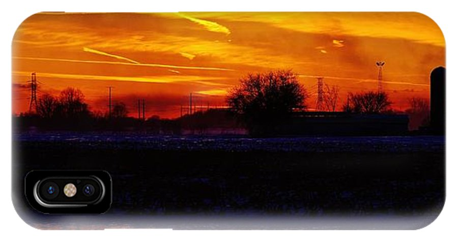 IPhone X / XS Case featuring the photograph Willow Rd Sunset 2.27.2014 by Daniel Thompson
