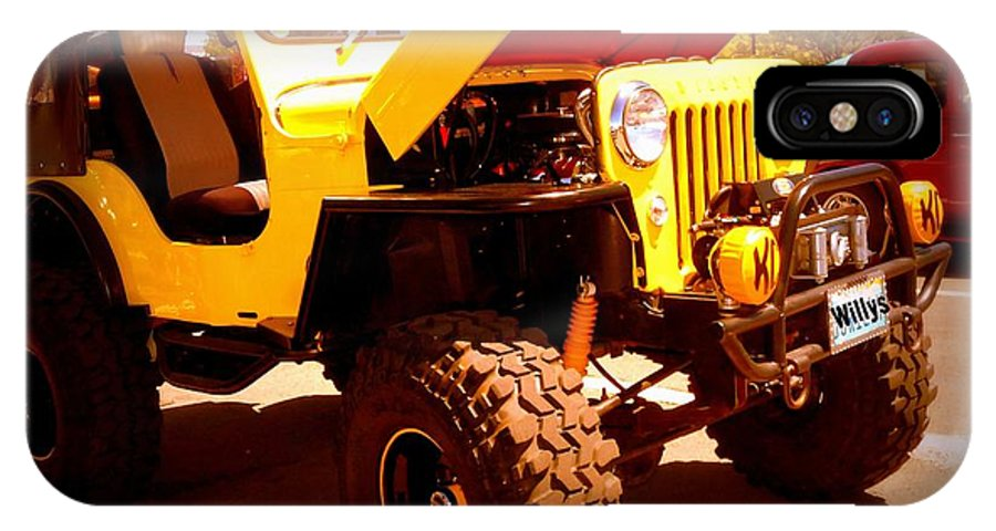Willys Jeep IPhone X Case featuring the photograph Willys 53 by Bobbee Rickard
