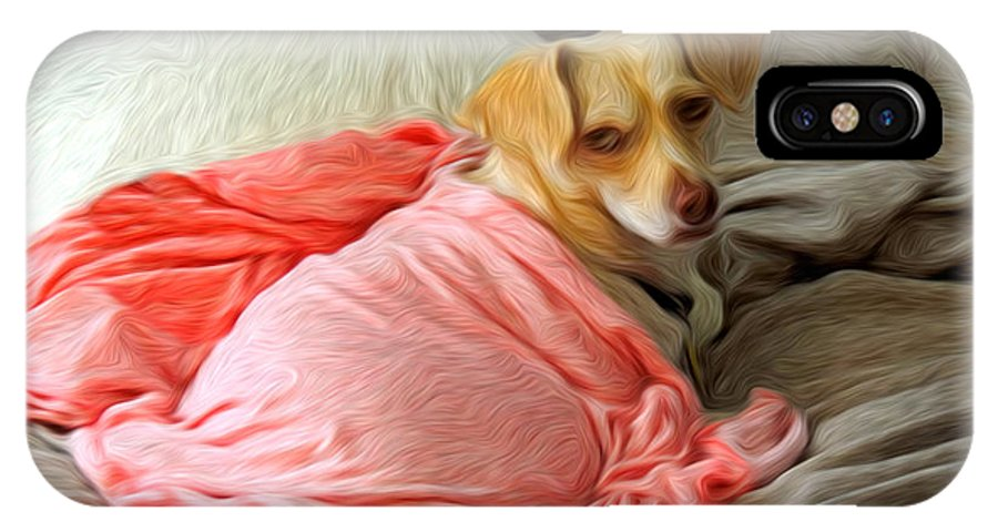 Dog IPhone X Case featuring the photograph Wilson by Larry Mulvehill