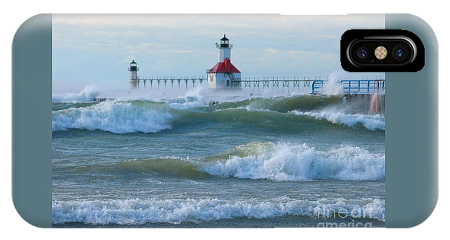 Wind IPhone X / XS Case featuring the photograph Wind-borne Fury by Ann Horn