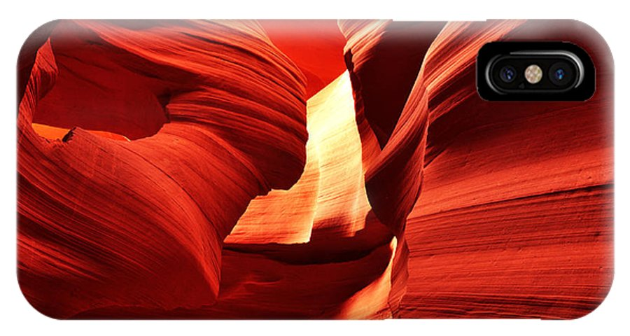 Antelope Canyon IPhone X Case featuring the photograph Wind In Her Hair by Andrew Broom
