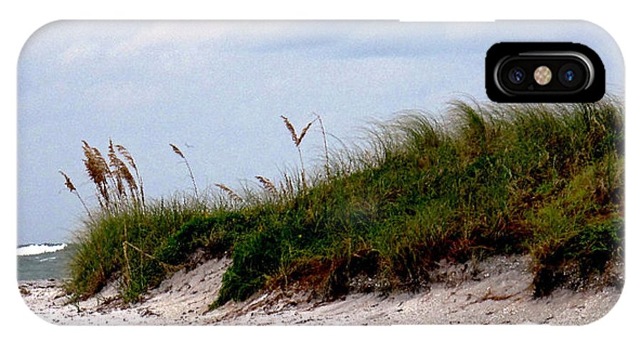 Beach IPhone X Case featuring the photograph Wind In The Seagrass by Ian MacDonald