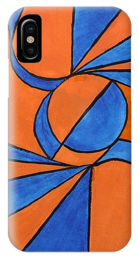 Abstract IPhone X Case featuring the painting Wind by Peggy King
