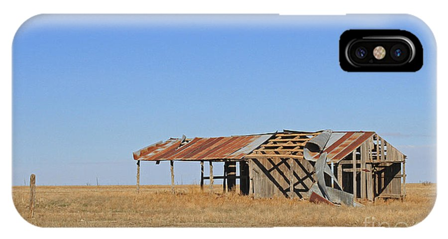 Texas IPhone X Case featuring the photograph Windblown Barn by Ashley M Conger
