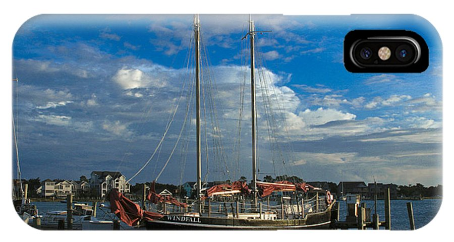 Ocrakoke IPhone X Case featuring the photograph Windfall by Ronald Lutz