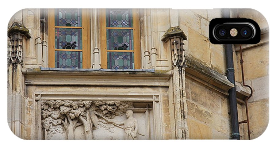 Window IPhone X Case featuring the photograph Window And Relief Palace Ducal by Christiane Schulze Art And Photography