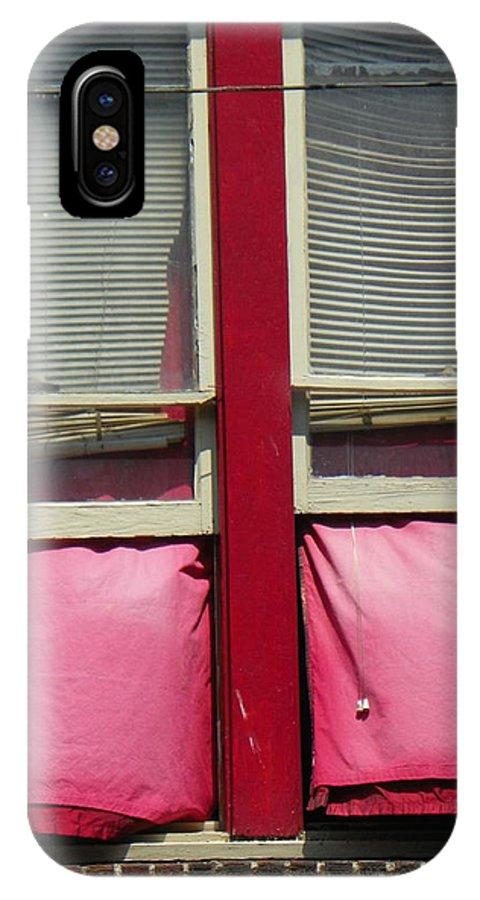 Windows IPhone X Case featuring the photograph Window Dressing by Bernie Smolnik
