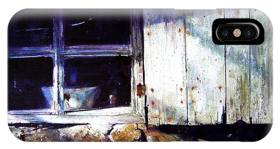Watercolour IPhone X Case featuring the painting Window In A Cottage by David Poxon