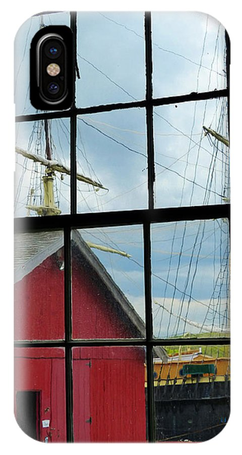 Tall Rigged Ship IPhone X Case featuring the photograph Window On History by Carl Sheffer
