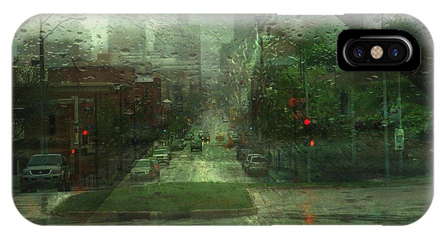 Downtown IPhone X Case featuring the photograph Windshield by Igor Khalandovskiy
