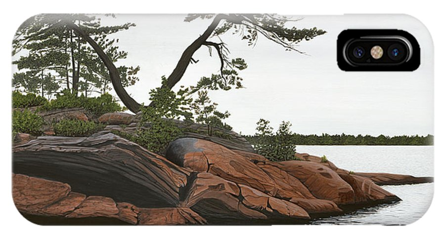 Landscape Paintings IPhone X Case featuring the painting Windswept by Kenneth M Kirsch
