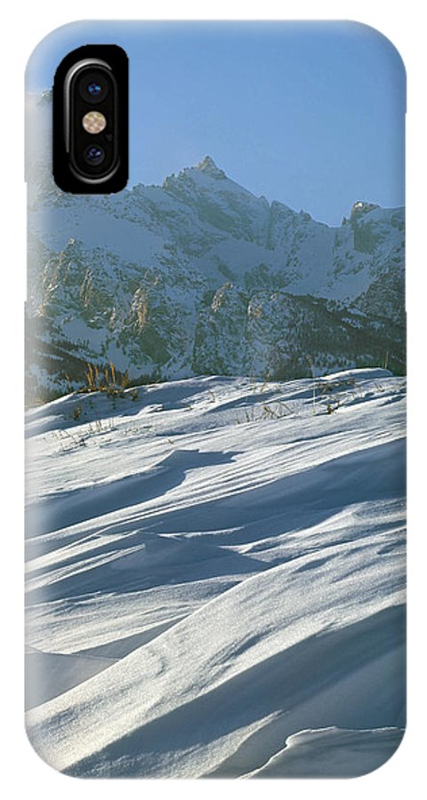 Windswept Snow IPhone X / XS Case featuring the photograph 1m9342-windswept Snow by Ed Cooper Photography