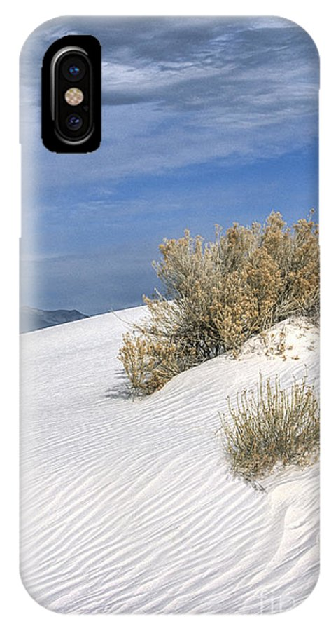 Southwest IPhone X Case featuring the photograph Windswept - White Sands National Monument by Sandra Bronstein