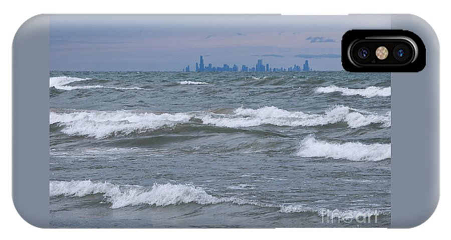 Chicagoland IPhone X Case featuring the photograph Windy City Skyline by Ann Horn