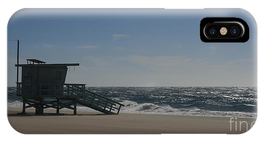 Ian IPhone X Case featuring the photograph Windy Day At Zuma by Ian Donley