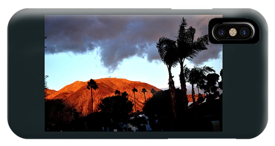 Mountains IPhone X Case featuring the photograph Windy Sunrise by Jay Milo