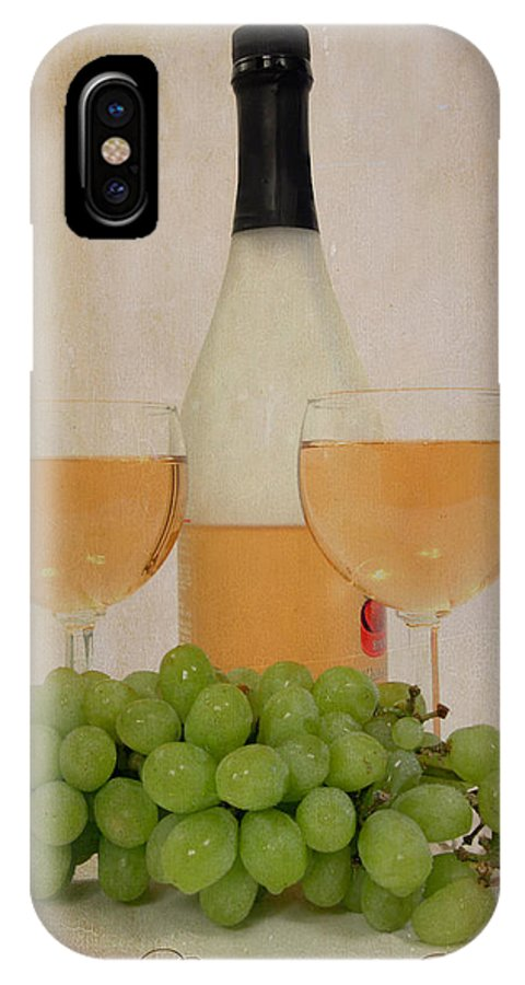 Wine IPhone X Case featuring the photograph Wine And Dine by Cindy Haggerty