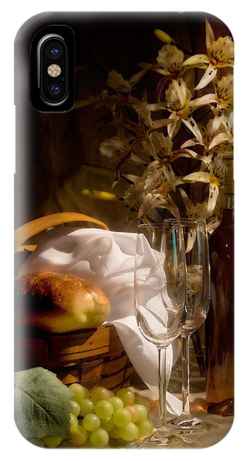 Wine IPhone X Case featuring the photograph Wine And Romance by Tom Mc Nemar