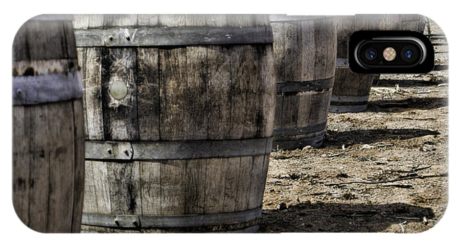 Wine Barrels IPhone X Case featuring the photograph Wine Barrels by Donna Miller