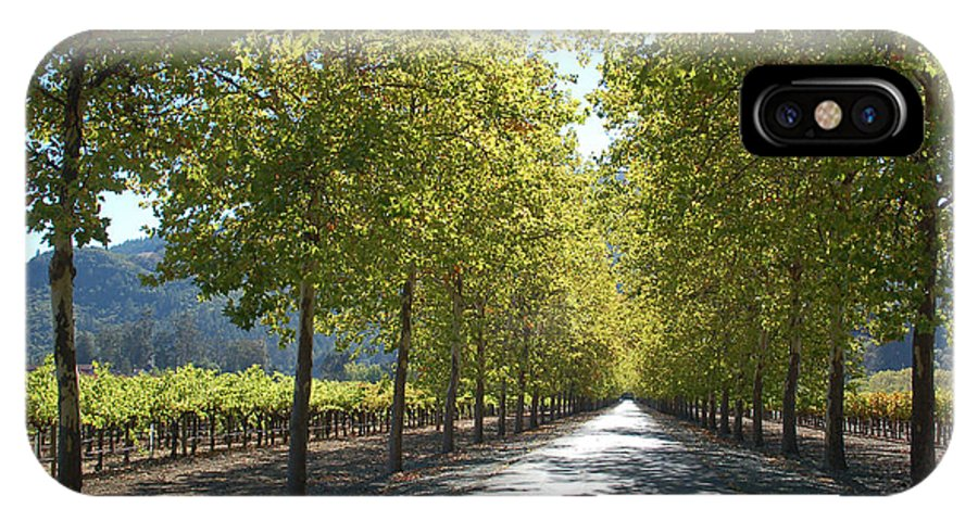 Napa IPhone X Case featuring the photograph Wine Country Napa by Suzanne Gaff