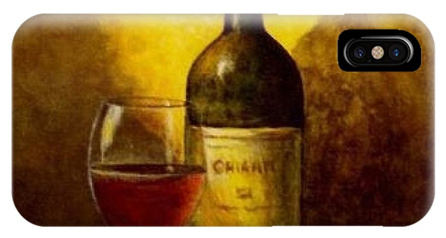 IPhone X Case featuring the painting Wine Glass by IAMJNICOLE JanuaryLifeBrand
