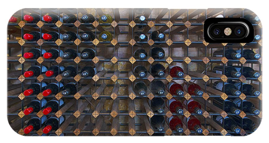 Wine IPhone X Case featuring the photograph Wine Rack by Casey Grant